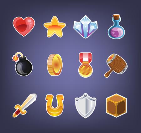 Illustration pour Computer game icon set - image libre de droit