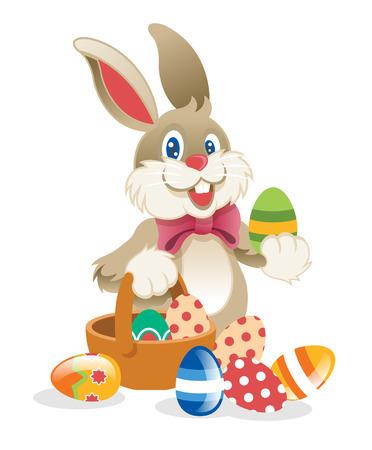 Illustration pour Easter Rabbit. Vector illustration - image libre de droit
