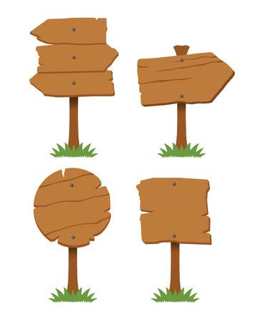 Illustration pour Vector wooden board set - image libre de droit