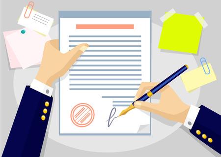 Illustration pour Vector agreement flat illustration - image libre de droit