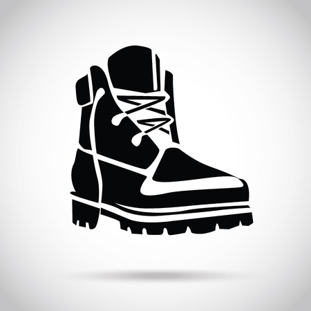 Illustration pour Black boot icon - image libre de droit