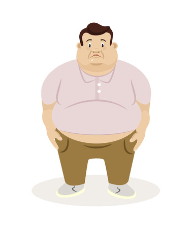 Illustration pour Fat man. Vector flat illustration - image libre de droit
