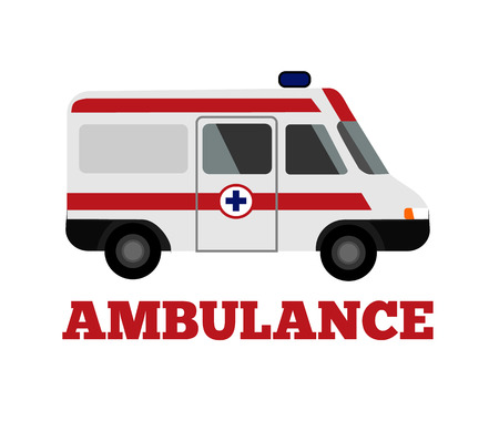 Photo for Vector ambulance flat illustration - Royalty Free Image