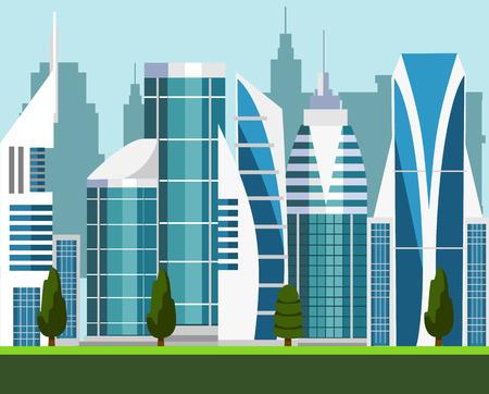 Illustration pour Vector modern city illustration - image libre de droit