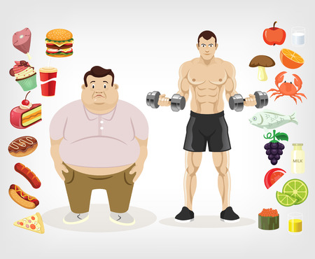 Illustration pour Vector diet flat illustration - image libre de droit
