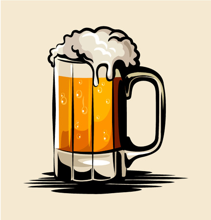 Foto per Vector beer illustration - Immagine Royalty Free