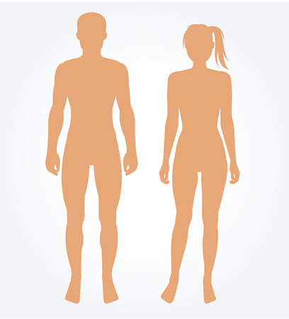 Illustrazione per Man and woman body template. Vector illustration - Immagini Royalty Free