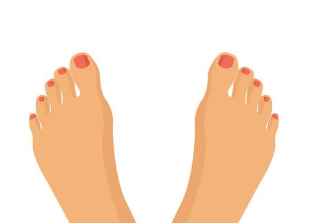 Ilustración de Vector feet flat illustration - Imagen libre de derechos