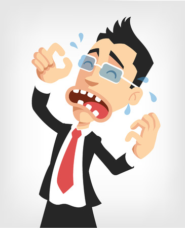 Illustration pour Frustrated businessman. Vector flat illustration - image libre de droit