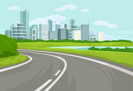 Illustration pour Landscape. Vector flat illustration - image libre de droit