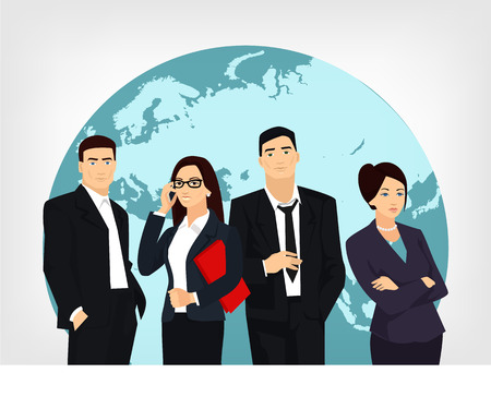 Illustration pour Business team. Vector flat illustration - image libre de droit