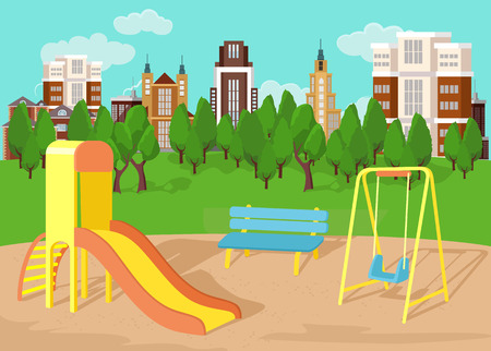 Illustration for Playground. Vector flat illustration - Royalty Free Image