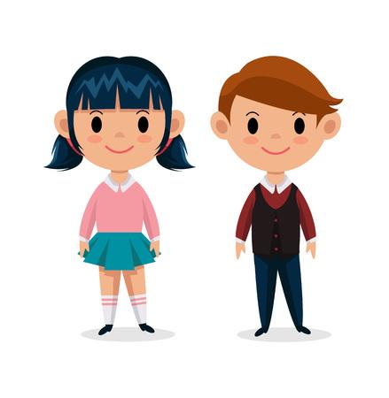 Illustration pour Vector children flat illustration - image libre de droit