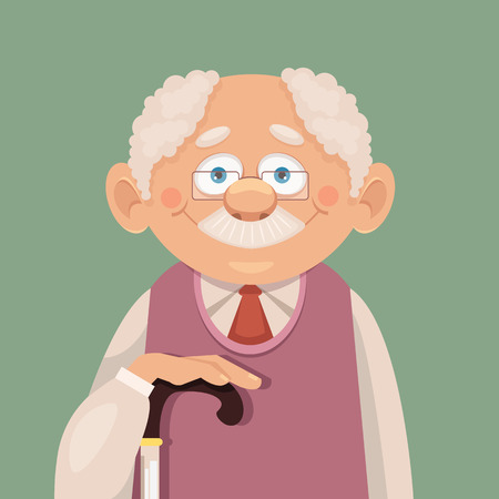 Illustration for Vector grandfather flat illustration - Royalty Free Image