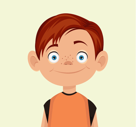 Illustration pour Vector little boy flat illustration - image libre de droit
