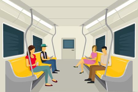 Ilustración de Vector subway flat illustration - Imagen libre de derechos