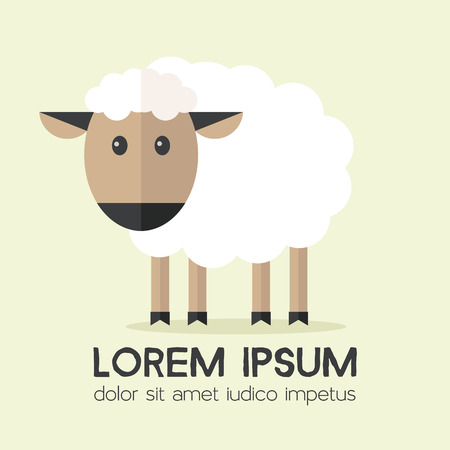 Vector sheep flat illustration