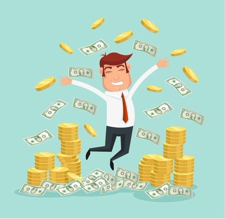 Illustration for Wealthy businessman. Vector flat illustration - Royalty Free Image