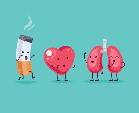 Ilustración de Stop Smoking. Vector cartoon illustration - Imagen libre de derechos