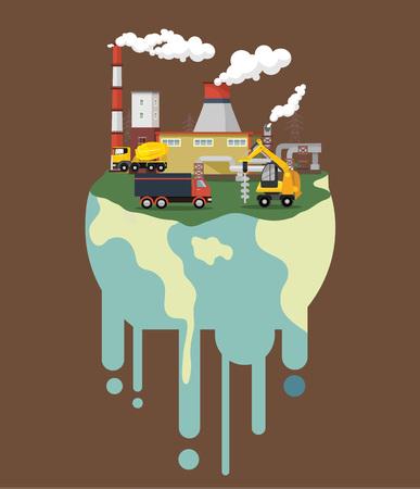 Illustration pour Global warming. Vector flat illustration - image libre de droit