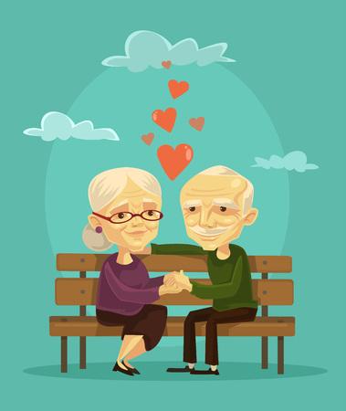 Foto de Elderly couple. Vector flat illustration - Imagen libre de derechos