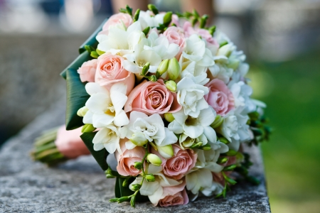 Photo for close up of wedding bouquet - Royalty Free Image
