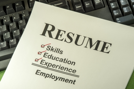 Photo for Successful Candidate Resume Requires Skills, Education And Experience To Find Employment - Royalty Free Image