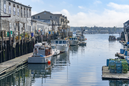 Photo for Harbor scenery in Portland, a city in Maine, USA - Royalty Free Image