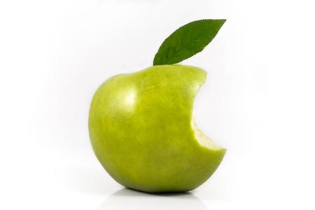 Foto de green apple bite - Imagen libre de derechos