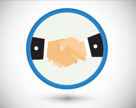 Illustration pour Logo shake hand in gray background. - image libre de droit
