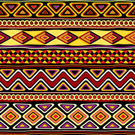 Illustration for vector seamless pattern with african ornament - Royalty Free Image