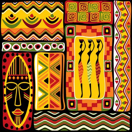Illustration pour vector seamless background with African design elements - image libre de droit