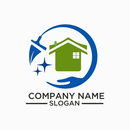 Ilustración de Cleaning And Maintenance Logo and vector Template, Cleaning icon. Single high quality outline symbol for web design or mobile app. Thin line sign for design logo. - Imagen libre de derechos
