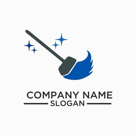 Ilustración de Cleaning And Maintenance Logo and vector Template, Cleaning icon. - Imagen libre de derechos