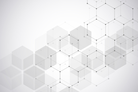 Foto für Medical background or science vector design. Molecular structure and chemical compounds. Geometric and polygonal abstract background. - Lizenzfreies Bild