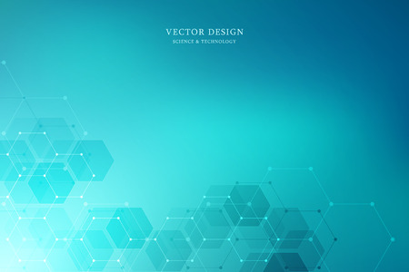 Foto für Vector medical background with hexagons shapes. Geometric abstract background for medical, science and digital technology design - Lizenzfreies Bild