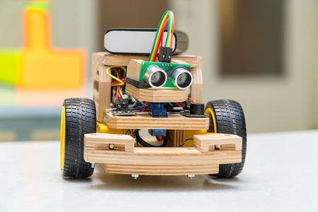 Foto de Designs the handmade model of the machine or car. Modeling - Imagen libre de derechos