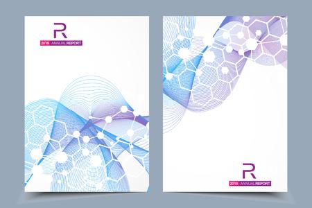 Ilustración de Scientific brochure design template. - Imagen libre de derechos