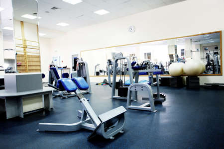 Fitness club. Equipment, gym apparatus.