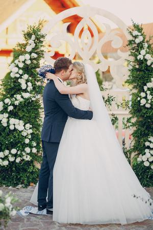 Photo pour wedding ceremony oath - image libre de droit