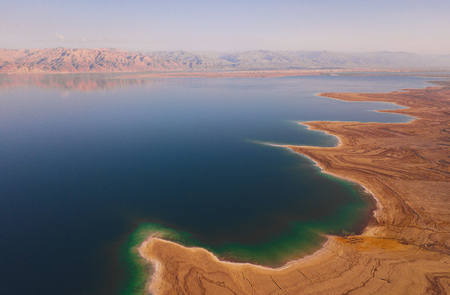 Photo pour flyover of the dead sea in Israel - image libre de droit