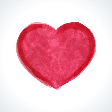 Heart shape painted Valentine Day vector illustration