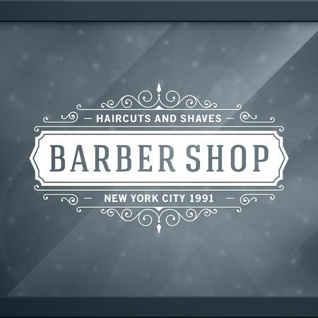 Illustration pour Barber shop vintage retro typographic design template - image libre de droit