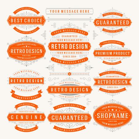 Illustration for Vector vintage design elements.   - Royalty Free Image
