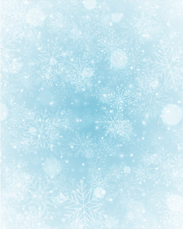 Illustration pour Christmas light with snowflakes. Merry Christmas holidays wish greeting card.  - image libre de droit