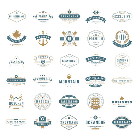 Illustration for Retro Vintage Insignias  - Royalty Free Image