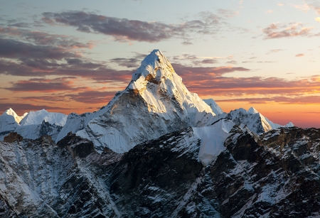 Photo for Evening view of Ama Dablam on the way to Everest Base Camp  Nepal - Royalty Free Image