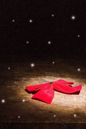 Photo for red bow still life with snow - Royalty Free Image