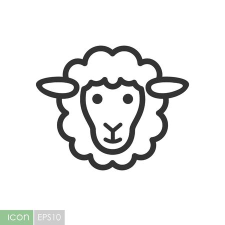 Ilustración de Sheep icon. Graph symbol for your web site design, logo, app, UI. Vector illustration - Imagen libre de derechos
