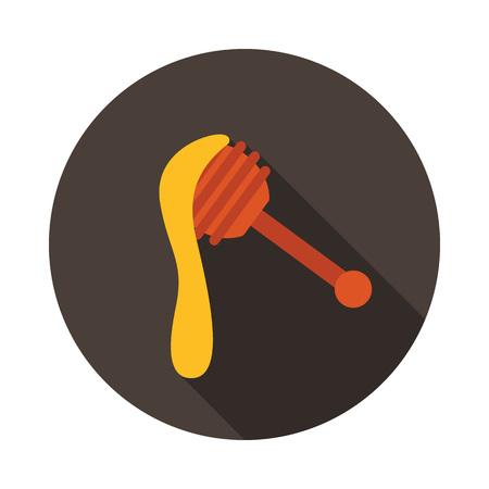 Honey dipper icon. Farm animal sign. Graph symbol for your web site design, logo, app, UI. Vector illustration